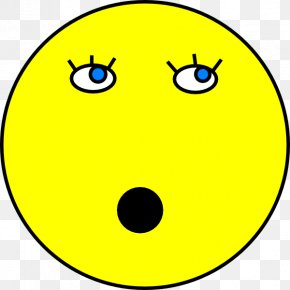 Shocked Smiley Face - Smiley Face Emoticon Clip Art PNG