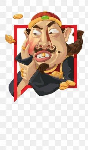 Mole On His Face Businessman - Poster Comics Cartoon Illustration PNG