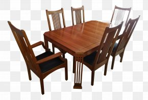 Table - Table Mission Style Furniture Chair Dining Room Matbord PNG