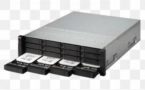 SAS 12Gb/s Computer Servers QNAP Systems, Inc.Enterprise X Chin - Serial Attached SCSI Network Storage Systems QNAP ES1640DC NAS Server PNG