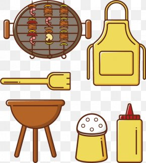 Vector BBQ Tools - Barbecue Grill Shish Kebab Brochette Clip Art PNG