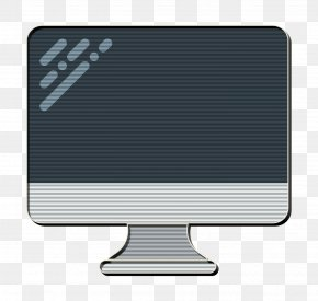 Silver Computer Monitor - Imac Icon Monitor Icon Technology Elements Icon PNG