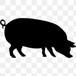 Pig - Pig Silhouette Stencil Clip Art PNG