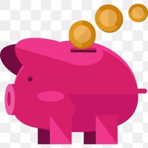 Cartoon Piggy Bank - Saving Finance Money Icon PNG