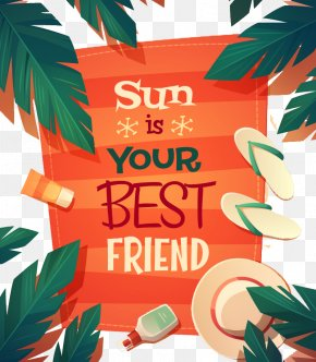 Retro Beach Vacation Poster Vector Material - Poster Beach Summer Graphic Design PNG