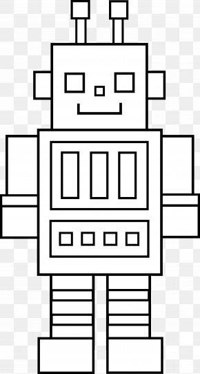 Robot Cliparts Black - Robotics Coloring Book Black And White Clip Art PNG