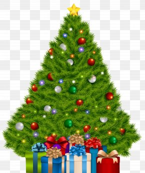 Extra Large Christmas Tree With Gifts Clip Art Image - Christmas Tree Christmas Gift PNG