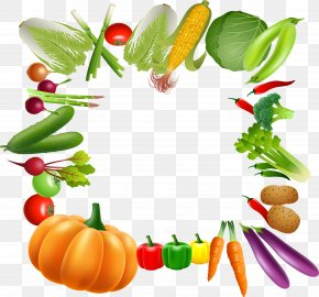 Vegetable Borders - Vegetable Vegetarian Cuisine Fruit Clip Art PNG