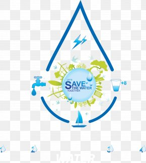 Decoration Environmental Water Droplets Flag - World Water Day Infographic Water Efficiency Water Conservation PNG