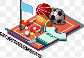 Decorative Ball Games And Sports Blazer - Ball Sport Illustration PNG