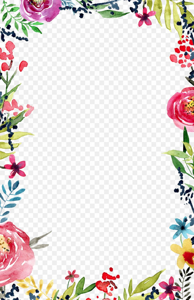 Wedding Invitation Flower Borders And Frames Template Clip Art Png 1375x2125px Wedding Invitation Area Art Border