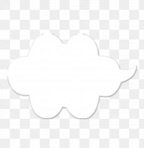 Clouds - White Black Area Pattern PNG