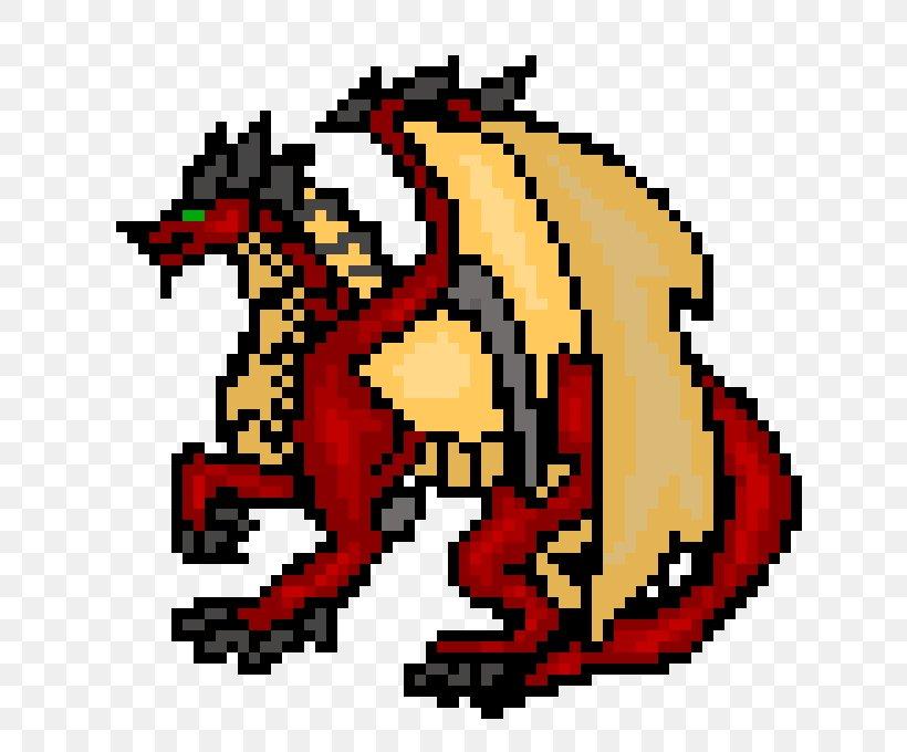 Pixel Art Dragon Facile