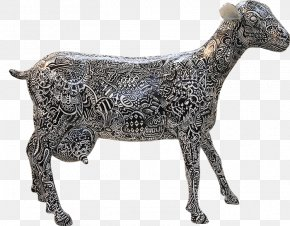 Goat - Cattle Bronze Sculpture Goat PNG