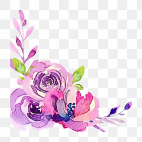 Watercolor Painting Flower Clip Art Image PNG