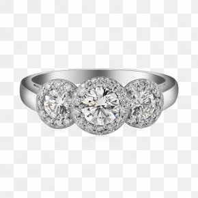 Engagement Ring - Engagement Ring Jewellery Halo 3 Diamond PNG