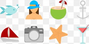 Ocean Beach Fishing Swimming - Beach Clip Art PNG
