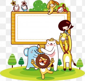 Cute Animals - Cartoon Download Illustration PNG