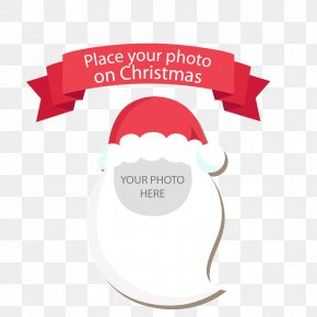 Santa Claus Picture Frame Vector - Christmas Photography Picture Frame PNG