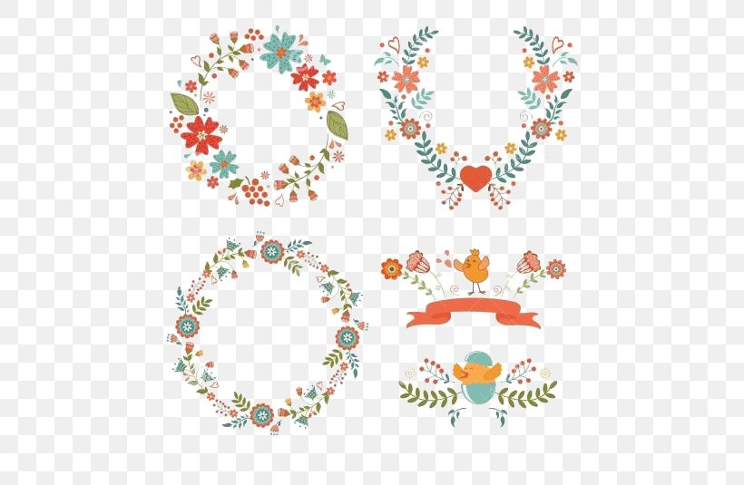 Flower Easter Wreath Clip Art, PNG, 500x535px, Flower, Christmas, Crown, Drawing, Easter Download Free