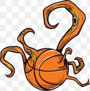 Basketball Monster - Octopus Bumper Sticker Wall Decal PNG