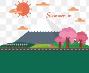 The Beauty Of Summer, Japan - Japan Cartoon Illustration PNG