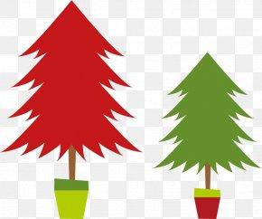 Vector Christmas Tree - Christmas Tree Gift Clip Art PNG