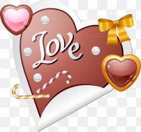 Valentine's Day - Valentine's Day Heart Gift Clip Art PNG