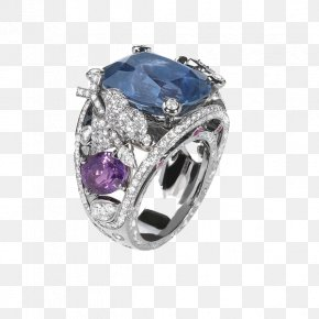 Vintage Jewelry - Sapphire Ring Jewellery Diamond Estate Jewelry PNG