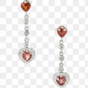 Ruby - Ruby Earring Sapphire Diamond Carat PNG