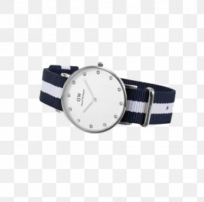 Watch Retro Silver Edge - Watch Strap Daniel Wellington Quartz Clock PNG