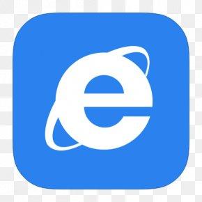 MetroUI Browser Internet Explorer - Blue Area Text Symbol PNG
