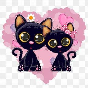 Kitten - Kitten Black Cat Hello Kitty Cartoon PNG
