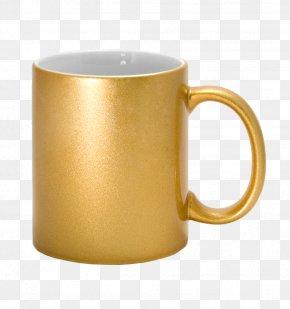 Mug - Mug Ceramic Teacup Gold Sublimation PNG