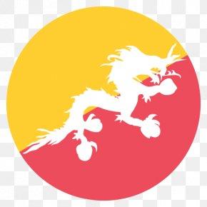 Flag - Flag Of Bhutan National Symbols Of Bhutan National Flag PNG