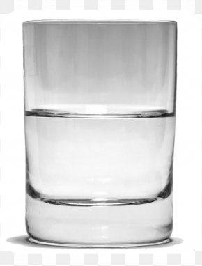 A Glass Of Water - Is The Glass Half Empty Or Half Full? Drinking Water Optimism Drinking Water PNG