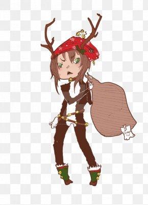 Reindeer - Reindeer Costume Design Antler Legendary Creature PNG