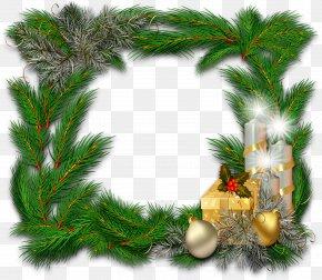Leaf Frame - Picture Frames Ded Moroz New Year Clip Art PNG