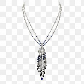 NECKLACE - Jewellery Necklace Gemstone Diamond Sapphire PNG