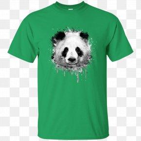 T-shirt - T-shirt Watercolor Painting Giant Panda Art PNG