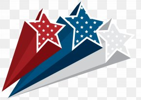 USA Stars Decoration Clipart Image - Flag Of The United States Independence Day Clip Art PNG