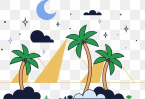 Vector Pyramid - Euclidean Vector Desert Download Clip Art PNG