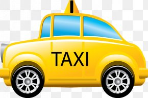 Taxi - Taxi Yellow Cab Icon PNG