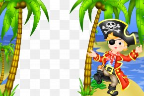 Pirate Frame Cliparts - Picture Frame Piracy Child Clip Art PNG