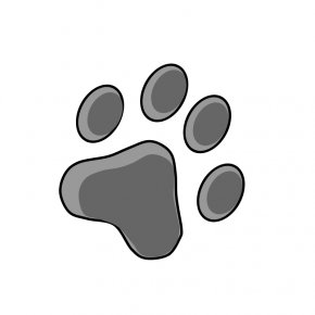 Footprint Pictures To Print - Dog Paw Printing Footprint Clip Art PNG