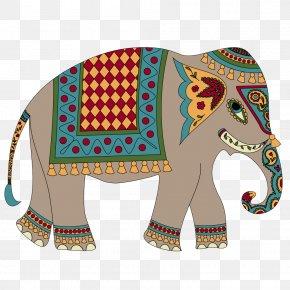 Indian Elephant - Indian Elephant Pattern PNG