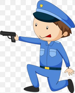 People's Police Carry Guns - Police Officer Clip Art PNG