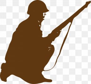Brown Latent Soldier - Soldier Silhouette Clip Art PNG