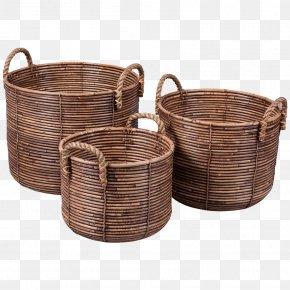 Rattan Divider - Wicker Basket Rattan Hamper Kitchenware PNG