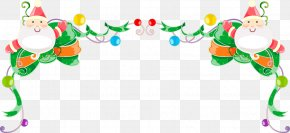 Snowman Border Ribbons - Christmas Ornament Free Content Clip Art PNG